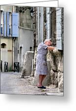 Naptime In Arles. France Greeting Card by Jennie Breeze