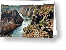 Narmada River Gorge At Jabalpur India Greeting Card by Kim Bemis