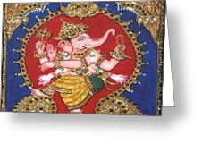 Narthana Ganapathi Greeting Card by Jayashree
