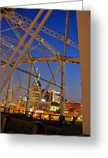 Nashville Bridge Greeting Card by Zachary Cox