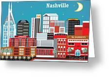 Nashville Greeting Card by Karen Young