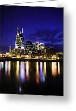 Nashville Skyline Greeting Card by Lucas Foley