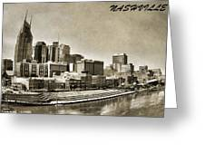 Nashville Tennessee Greeting Card by Dan Sproul