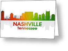 Nashville Tn Greeting Card by Angelina Vick