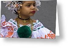 National Costume Of Panama Greeting Card by Heiko Koehrer-Wagner