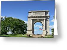 National Memorial Arch At Valley Forge Greeting Card by Olivier Le Queinec