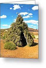 Native American Desert Cedar Lodge Greeting Card by John Malone