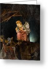 Nativity Angel  Greeting Card by Susan  McMenamin