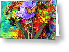 Nature Vs Caos Greeting Card by Gary Grayson
