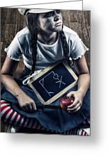 Naughty School Girl Greeting Card by Joana Kruse