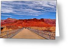 Navajo Bridge Greeting Card by Dan Sproul