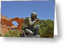 Navajo Code Talker - Window Rock Az Greeting Card by Christine Till