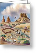 Navajo Sheepherder - Age 11 Greeting Card by Dawn Senior-Trask