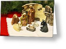 Navitity In Ceramics Greeting Card by Linda Phelps