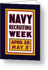 Navy Recruiting Week Greeting Card by War Is Hell Store