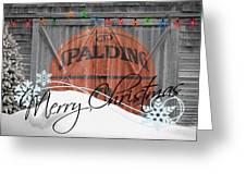 NBA BASKETBALL Greeting Card by Joe Hamilton
