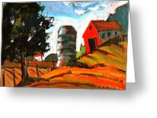 Near Flint Ridge Ohio At Brownsville Greeting Card by Charlie Spear