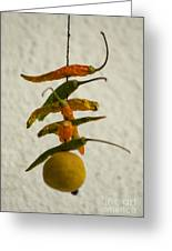 Neembu Mirch  Lemon N Chillies Greeting Card by Vineesh Edakkara
