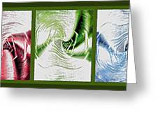 Negative Space Triptych - Inverted Greeting Card by Steve Ohlsen