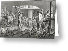 Negroes In The Bilge, Engraved Greeting Card by Johann Moritz Rugendas