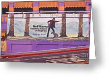 Neil Young Billboard Greeting Card by Frank Bez