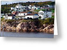 Neil's Harbour Greeting Card by Janet Ashworth