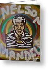 Nelson Mandela Greeting Card by Tony B Conscious