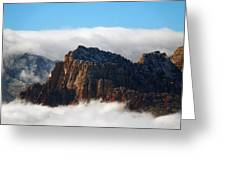 Nestled In The Clouds Greeting Card by Alan Socolik