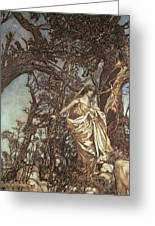 Never So Weary Never So Woeful Illustration To A Midsummer Night S Dream Greeting Card by Arthur Rackham
