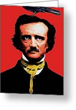 Nevermore - Edgar Allan Poe - Electric Greeting Card by Wingsdomain Art and Photography