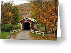 New Baltimore Covered Bridge Greeting Card by Dan Myers