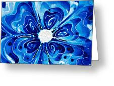 New Blue Glory Flower Art - Buy Prints Greeting Card by Sharon Cummings