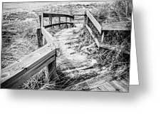 New Buffalo Michigan Boardwalk and Beach Greeting Card by Paul Velgos