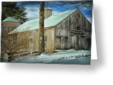 New England Barn Greeting Card by Tricia Marchlik
