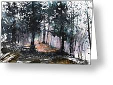 New England Landscape No.214 Greeting Card by Sumiyo Toribe
