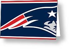 New England Patriots Greeting Card by Tony Rubino