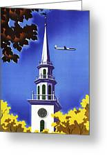 New England United Air Lines Greeting Card by Mark Rogan