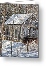 New England Winter Woods Square Greeting Card by Bill  Wakeley