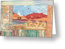New Mexican Lanscape Greeting Card by MtnWoman Silver