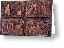 New Mexico Churches Greeting Card by Ricardo Chavez-Mendez