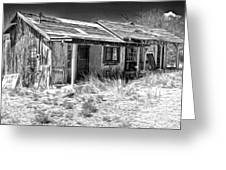New Mexico Haunted Shack Greeting Card by Gregory Dyer