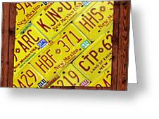 New Mexico State License Plate Map Greeting Card by Design Turnpike