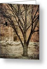 New Mexico Winter Greeting Card by Carol Leigh