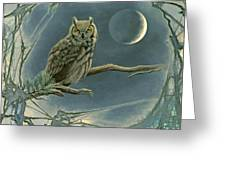 New Moon   Greeting Card by Paul Krapf