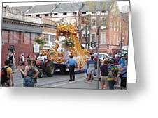 New Orleans - Mardi Gras Parades - 121259 Greeting Card by DC Photographer