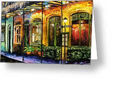 New Orleans Original Painting Greeting Card by Beata Sasik