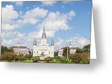 New Orleans Panorama Greeting Card by Kay Pickens
