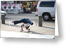 New Orleans - Street Performers - 121210 Greeting Card by DC Photographer
