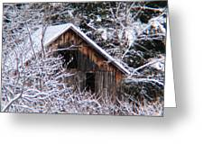 New Snow Old Barn Greeting Card by Will Boutin Photos
