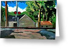 New Wavery Nickel Plate Line Greeting Card by Charlie Spear